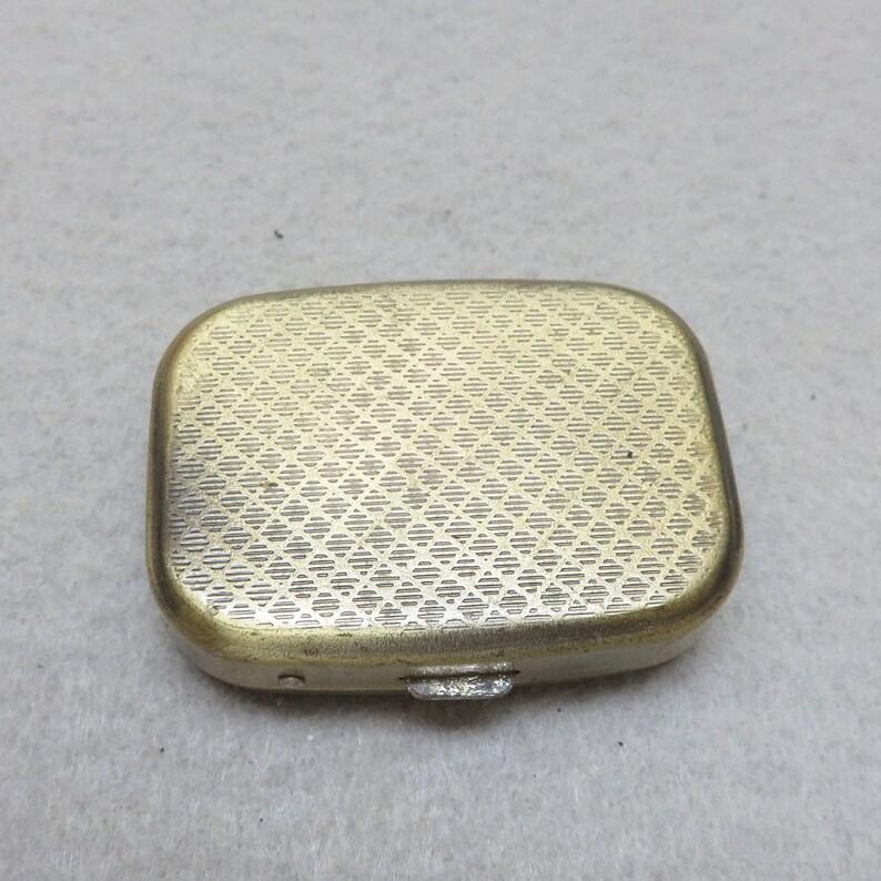 1980/'s Inside Divider Tiny Brass Pillbox or Trinket Box Bird Cage Design