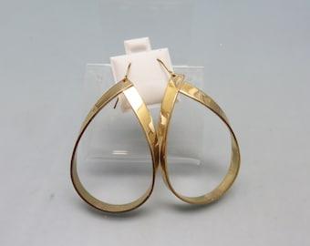 Paper  Look Big Loop Pierced Earrings, Rose Gold 1980s Earrings