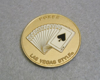 Vintage Poker Coin Sized Hand Protector