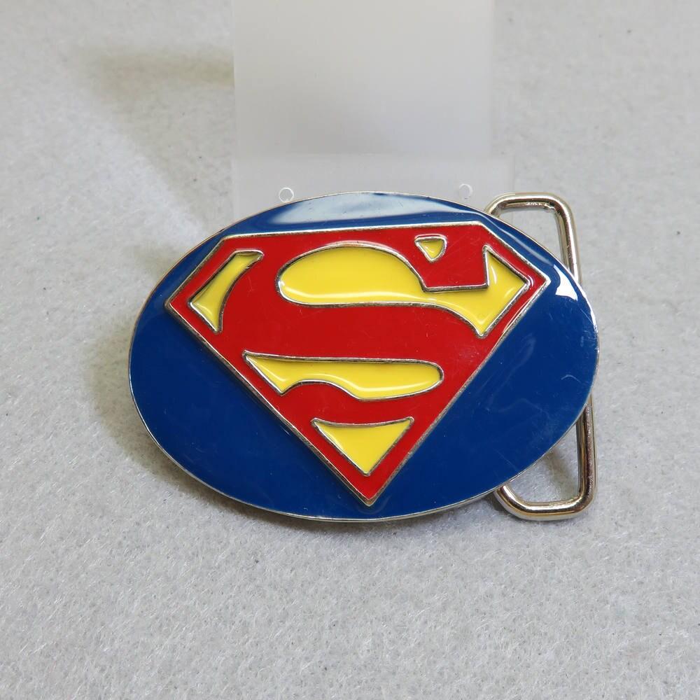 1b7996f27f4 Boucle de ceinture SUPERMAN vintage en émail jaune rouge et