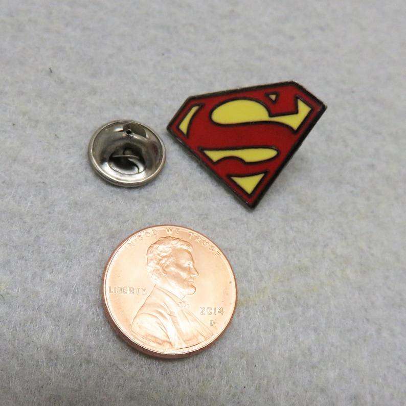 Enamel Superman Tie Tack Vintage Tie Tack