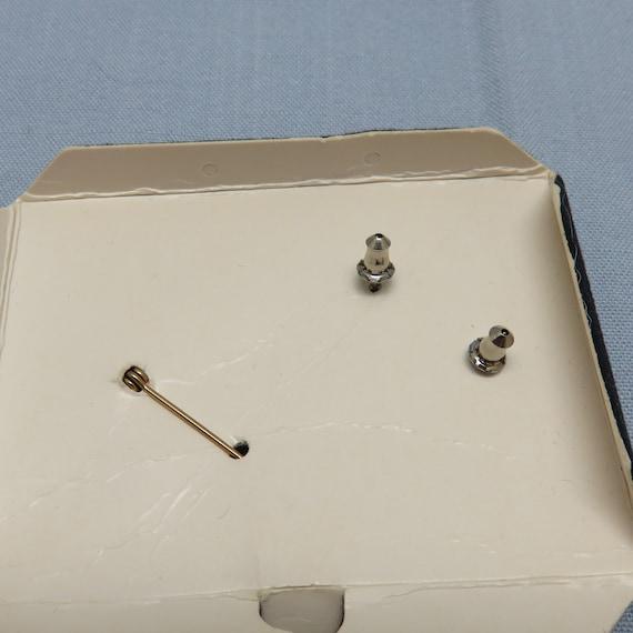 Vintage Faux Pearl Circle Pin,  Plus Matching Fau… - image 3
