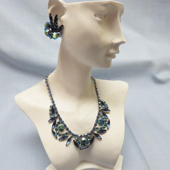 Juliana Style Rhinestone Necklace and Earring Set,