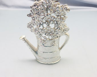 1970s Watering Can and Flowers Pierced Earring Holder