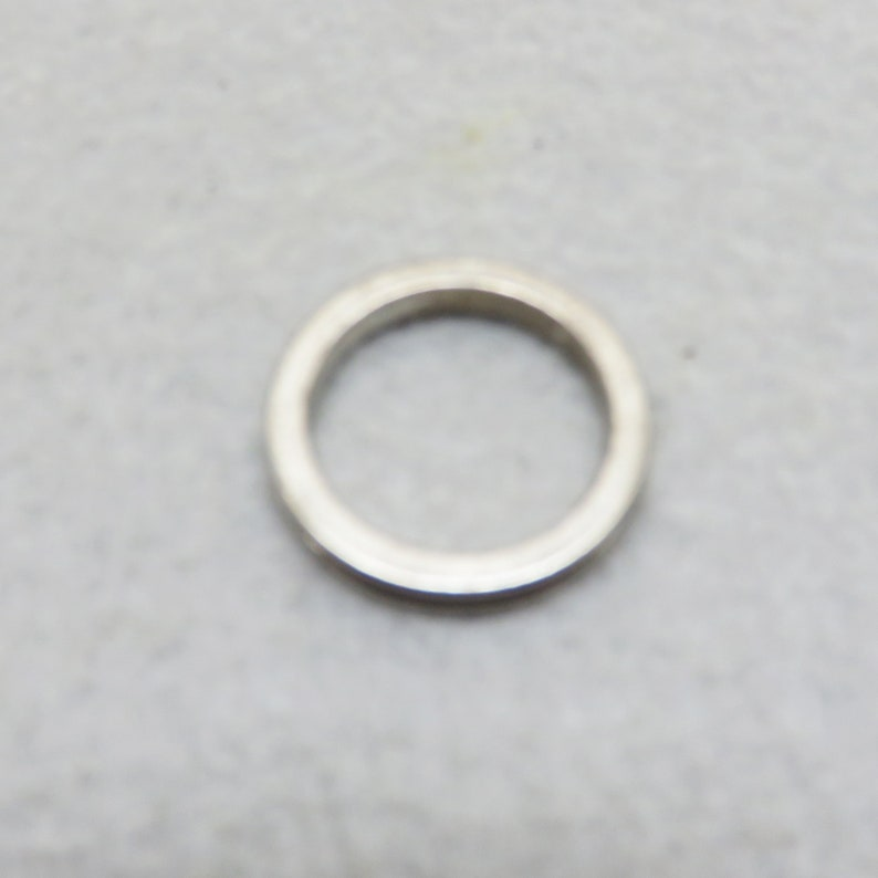 Size 7 Sterling Silver Purple Enamel Stacking Ring