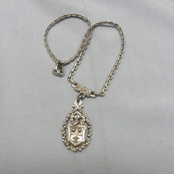 1980s Heraldic Pendant Necklace, Coat of Arms Neck