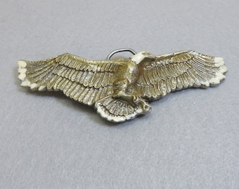 Pewter Eagle Belt Buckle, Signed, Numbered and Dated 1981