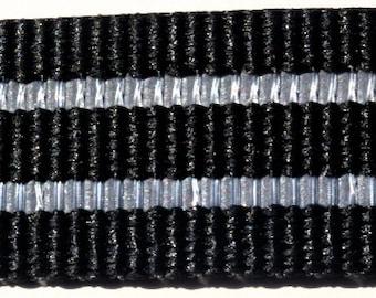 Reflective Dog Collar Black Webbing (Large, Medium, Medium Plus)