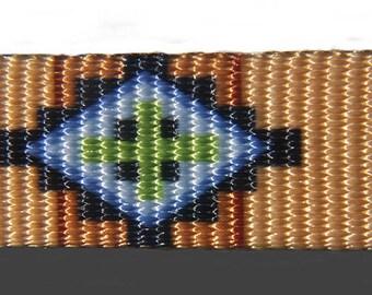 Southwest Native American Geometric Dog Collar (Large, Medium, Medium +)