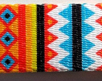"Summer Pine Southwest Native American Geometric Colorful 1"" Dog Collar (Large, Medium Plus, Medium)"