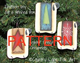 EPATTERN, #0012  Winter sheep ornaments, Christmas ornaments pattern, painting patterns, sheep epattern, tole painting pattern, prim pattern