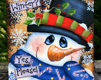 Snowman sign, best selling items wood, snowman decor, winter sign, hand painted signs, Christmas decorations, primitive home decor, holiday