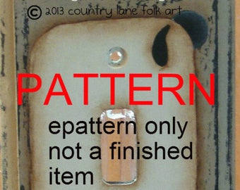 Tole painting epattern, sheep switch plate cover painting pattern, painting patterns, sheep painting pattern, primitive painting pattern,