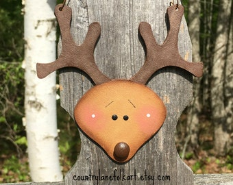 Reindeer ornament,  Christmas ornaments, hand painted ornament, best selling items, unique christmas ornament, wood christmas ornaments,