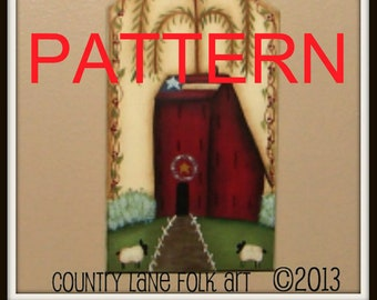painting epattern, saltbox house, painting patterns, decorative painting, tole painting, primitive pattern, saltbox house pattern, sheep