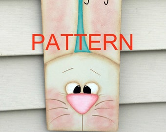 EPATTERN, Ears looking at you painting pattern, spring bunny pattern, Easter painting, tole painting patterns, primitive painting patterns,