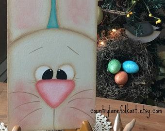 Spring bunny Easter decorations, Easter bunny decoration, wooden Easter decorations, primitive home decor, primitive Easter, folk art rabbit