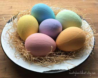 Easter decorations, painted Easter eggs, Easter table centerpiece, mom gift mom, farmhouse decor, best selling items,  rustic Easter decor