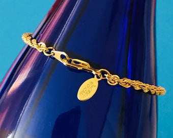 American Showcase Gold Plated Shiny Twisted Rope Chain Bracelet