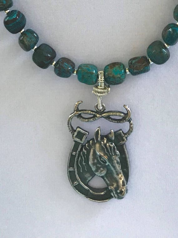 Turquoise Jasper Stone and Silver