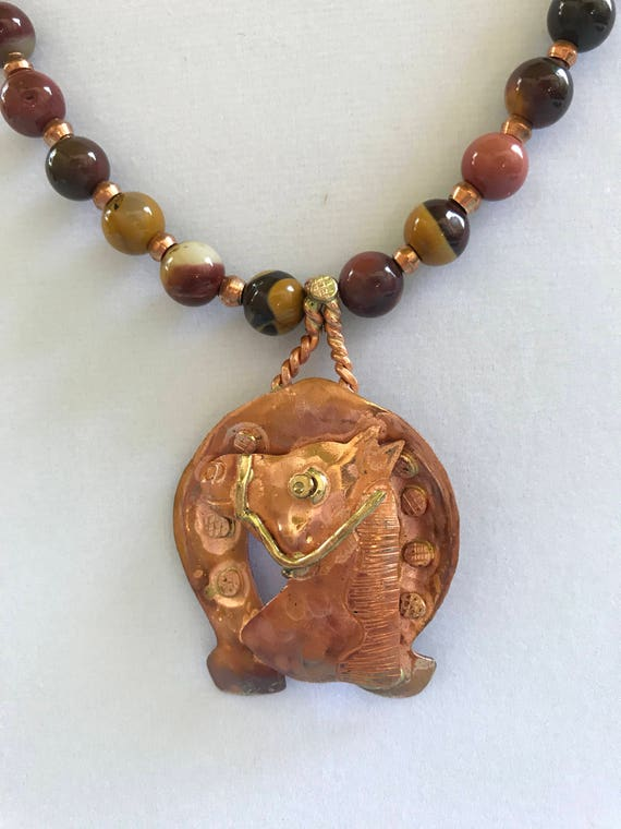 Mookaite Jasper and Copper Accents