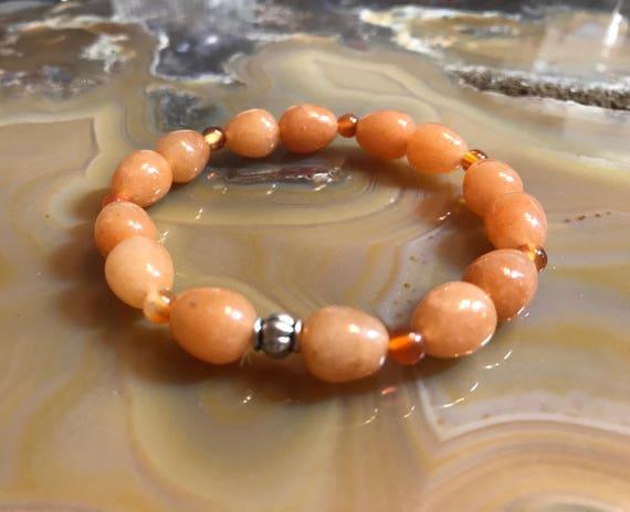 Carnelian Elastic bracelet