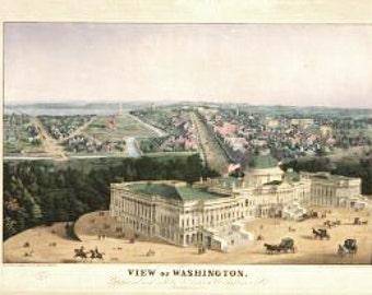 Plattsburgh New York 1899 Historic Panoramic Town Map 24x36