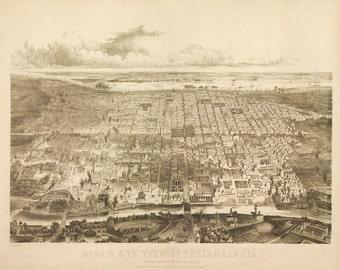 Vintage Map - Philadelphia, Pennsylvania 1857