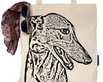 Wylie the Greyhound - Eco-Friendly Tote Bag