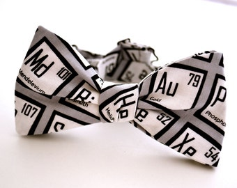 Periodic table tie etsy adult freestyle bowtie periodic table of elements science bow tie nerd gifts urtaz Gallery