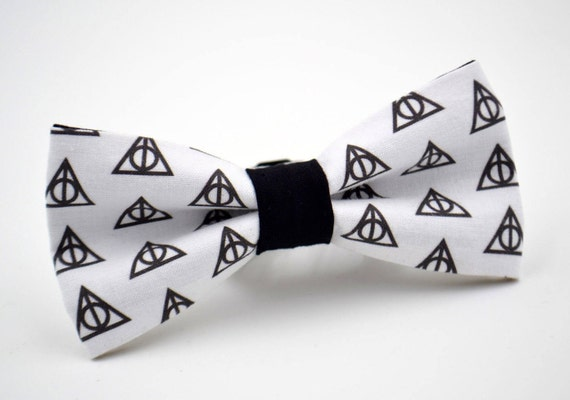 Adult Harry Potter Inspired Bowtie Deathly Hallows Symbol Etsy