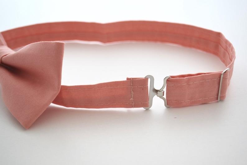 Mens Bow Tie in Coral Kona Cotton