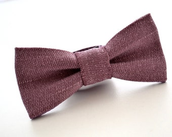 Boys Bowtie in Dusty Purple Suiting Material, Dusty Plum Bow Tie, Ring Bearer Bow Tie, Purple Bow Tie, Wedding Bow Tie, Rustic Wedding