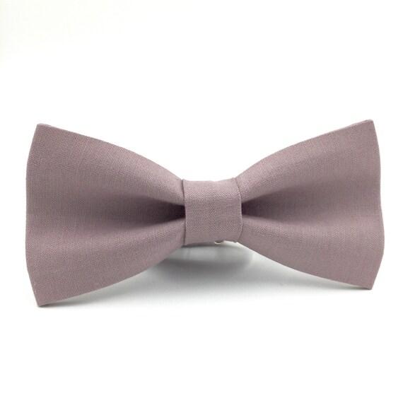bow tie Light plum dusty plum necktie groomsmen necktie wedding bow tie light plum bow tie for men linen necktie