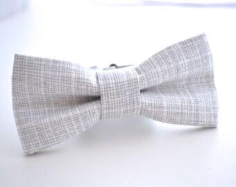 Boys Bowtie, Gray and White, Gray Bow Tie, Boys Bow Tie, Boys Gray Bow Tie, Ring Bearer Bow Tie, Wedding Bow Tie, Kids Bow Ties