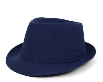 39dfa91bb2421 Unisex Navy Blue Fedora Hat