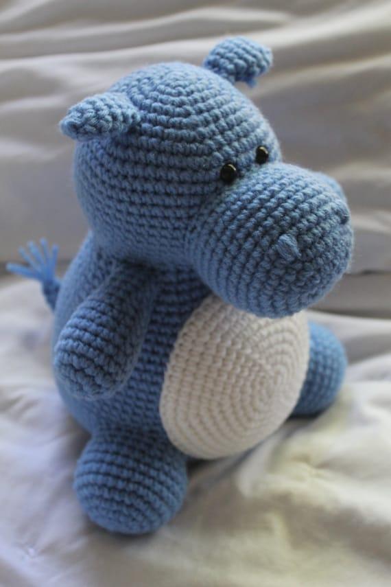 Hilda el hipopótamo Crochet Amigurumi patrón