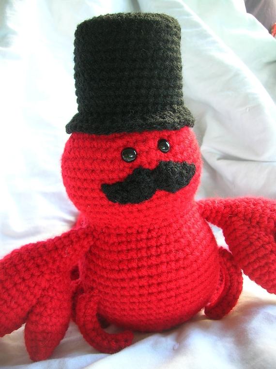 Sir Lawrence The Lobster Amigurumi Crochet Plush Pattern Etsy