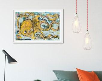 Picassopus Octopus 10x17