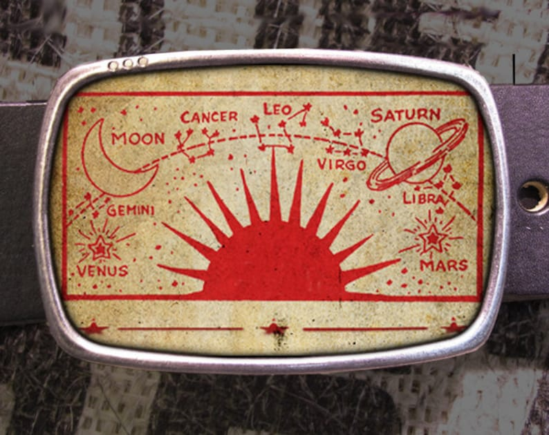 Celestial Planets Belt Buckle Vintage Sun Venus Saturn Gift for Him or Her  Husband Wife Gift Zodiac Mars Halloween Mystic Celestial 181 Star