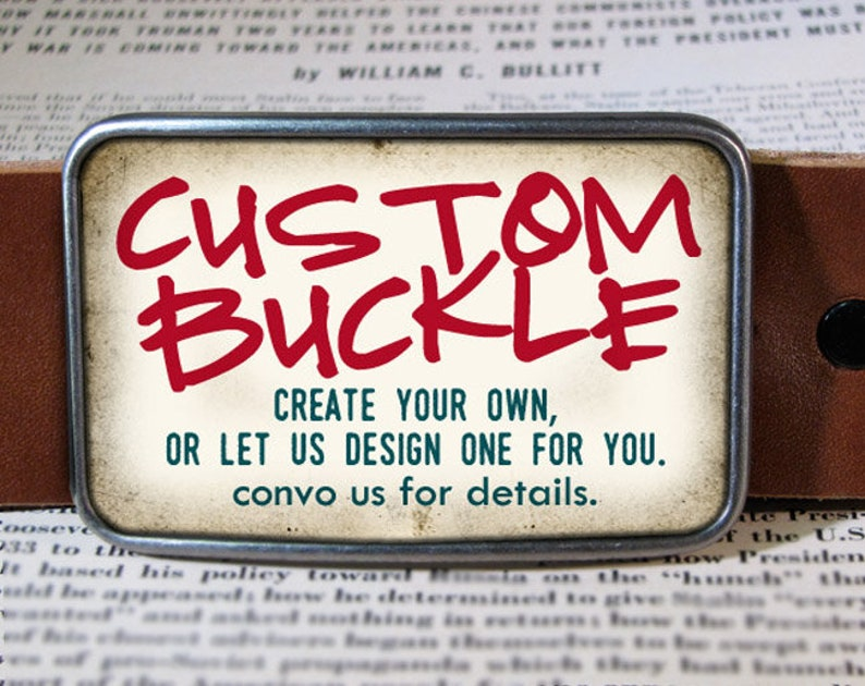 Custom Belt Buckle  Personalized Gift  Design Your Own image 0