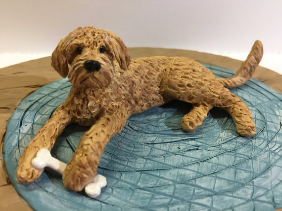 Polymer Clay Dog Figurine Colorful Indoor Dog Sculpture