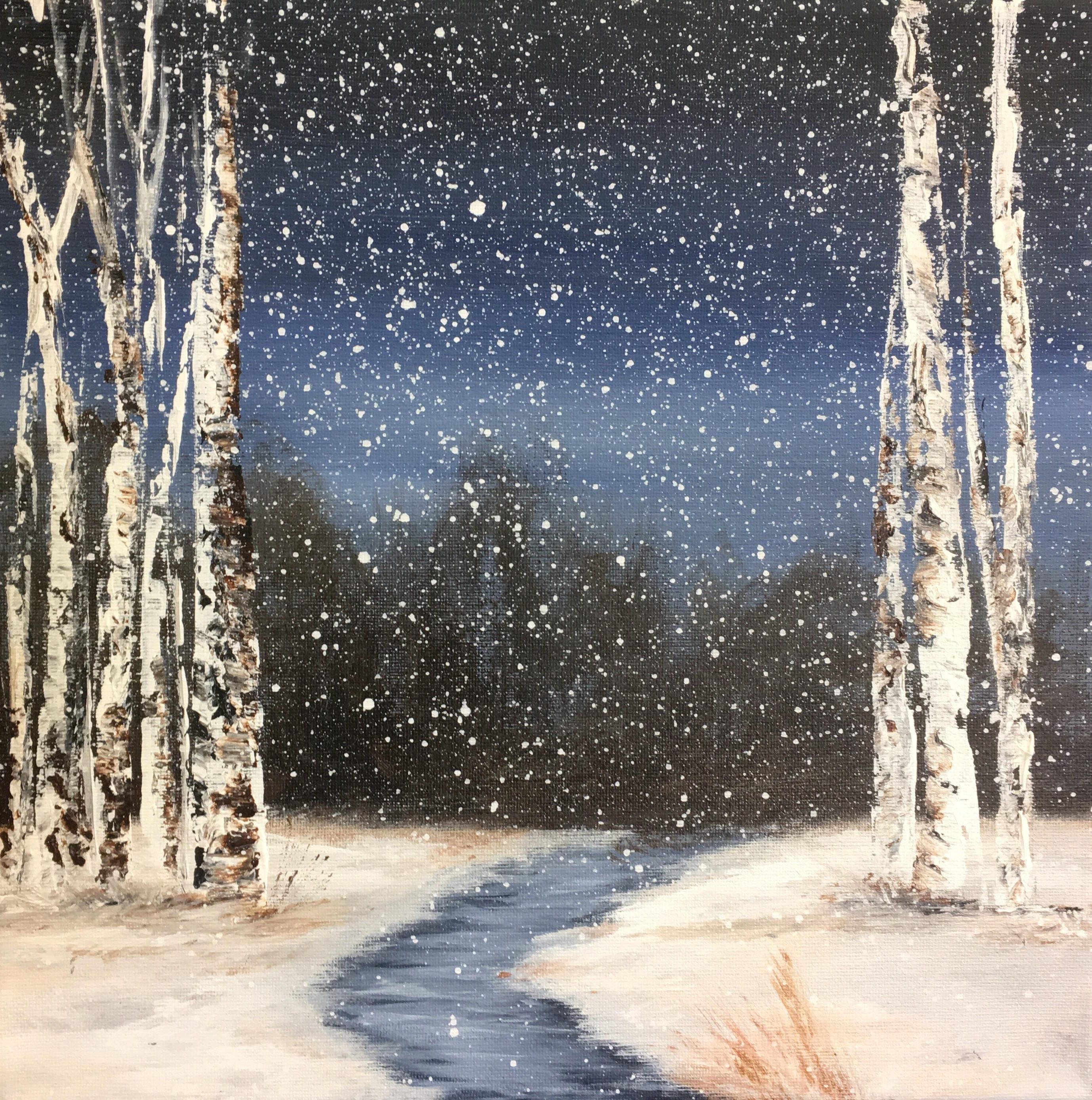 Winter birch bead 49