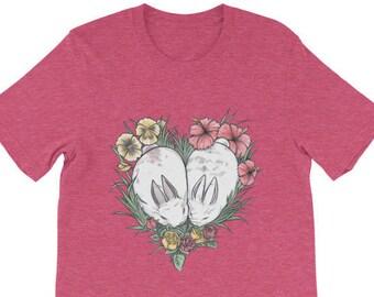 Bunny Heart Unisex short sleeve t-shirt