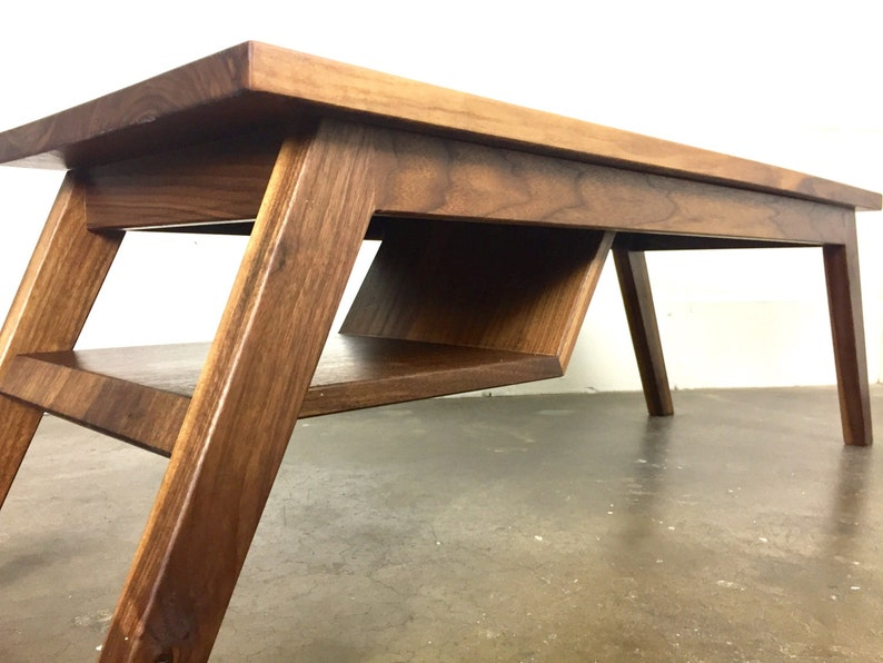 The Charlie Mid Century Modern Coffee Table Etsy