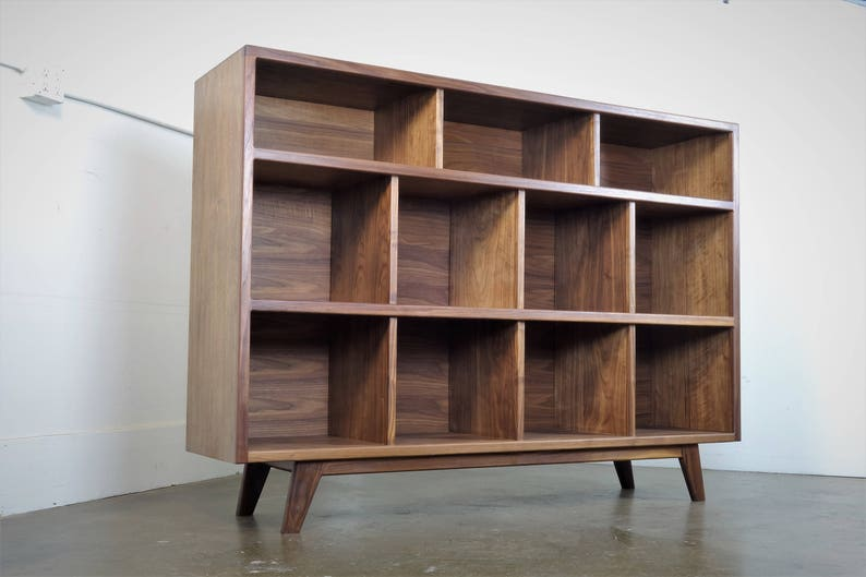 The  StudioK is a mid-century modern stereo console for a record player and record storage