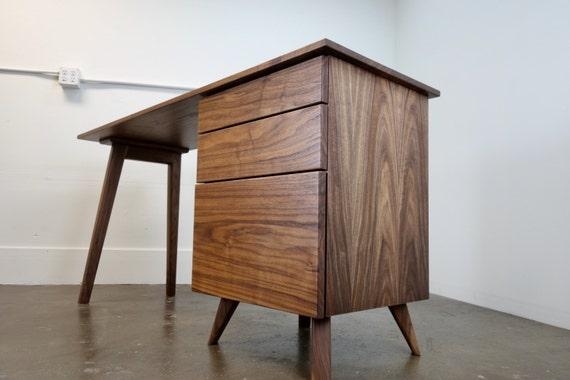 The Cozmo Mid Century Modern Desk Writing Desk Etsy