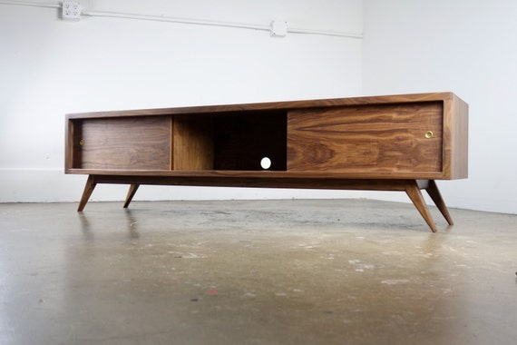 Danish Modern Tv Credenza : The g a mid century modern tv console stand etsy