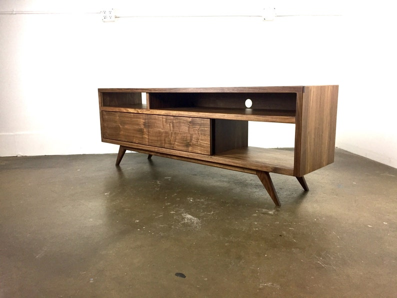 Danish Modern Tv Credenza : Diy mid century modern tv console stand credenza by centu