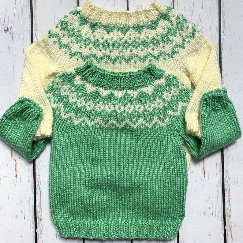 Baby Nordic Sweater Norwegian Baby Sweater Baby Shower Gender Neutral Baby Clothes Cream Baby Sweater